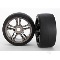 Tyres and Wheels, Assembled Glued Slick Tyres (Rear) (2 pcs)