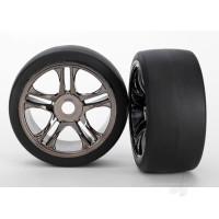 Black Chrome, Split-Spoke Wheels and Slick