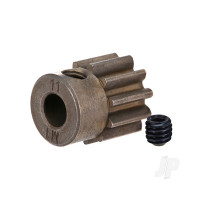 Gear, 11-T pinion (1.0 metric pitch) (fits 5mm shaft) / set screw (compatible with steel spur gears)
