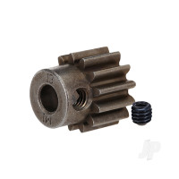 Gear, 13-T pinion (1.0 metric pitch) (fits 5mm shaft) / set screw (compatible with steel spur gears)