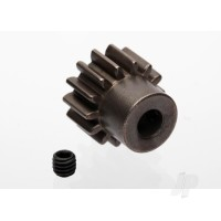 Gear, 14-T pinion (1.0 metric pitch) (fits 5mm shaft) / set screw (compatible with steel spur gears)
