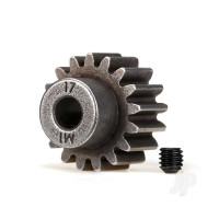 Gear, 17-T pinion (1.0 metric pitch) (fits 5mm shaft) / set screw (compatible with steel spur gears)