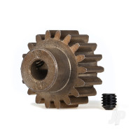 Gear, 18-T pinion (1.0 metric pitch) (fits 5mm shaft) / set screw (compatible with steel spur gears)