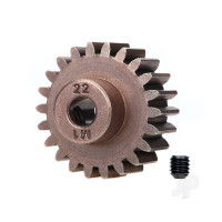 Gear, 22-T pinion (1.0 metric pitch) (fits 5mm shaft) / set screw (compatible with steel spur gears)
