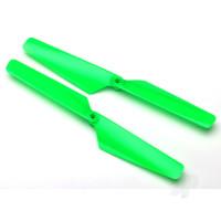 Rotor blade set, green (2pcs) / 1.6x5mm BCS (2pcs)