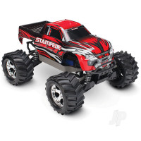 Red Stampede 1:10 4X4 Monster Truck (+ TQ, XL-5, Titan 550, 7-Cell NiMH, DC Charger)
