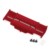 Wing, Rustler 4X4 (red) / 3x8 FCS (3pcs)