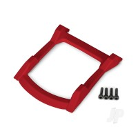 Skid plate, roof (body) (red) / 3x12mm CS (4pcs)