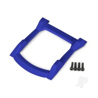 Skid plate, roof (body) (blue) / 3x12mm CS (4pcs)