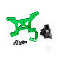 Shock tower, front, 7075-T6 aluminium (green-anodized) (1pc) / body mount bracket (1pc)
