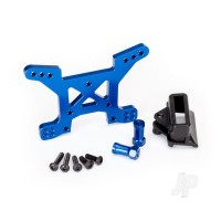 Shock tower, front, 7075-T6 aluminium (blue-anodized) (1pc) / body mount bracket (1pc)