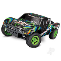 Green/Blue Slash 4X4 1:10 4WD Electric Short Course Truck (+ TQ)