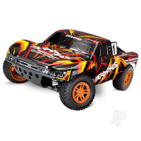 Orange/Red Slash 4X4 1:10 4WD Electric Short Course Truck (+ TQ)