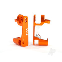 Caster blocks (c-hubs), 6061-T6 aluminium (orange-anodized), left & right
