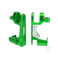 Caster blocks (C-Hubs), 6061-T6 aluminium (Green-anodized), left & right