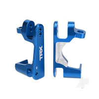Caster blocks (c-hubs), 6061-T6 aluminium (blue-anodized), left & right