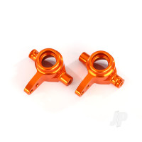 Steering blocks, 6061-T6 aluminium (orange-anodized), left & right