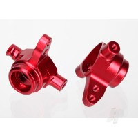 Steering blocks, 6061-T6 aluminium (Red-anodized), left & right