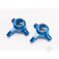 Steering blocks, 6061-T6 aluminium (Blue-anodized), left & right