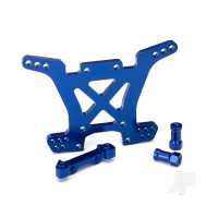 Shock tower, rear, 7075-T6 aluminium (blue-anodized)