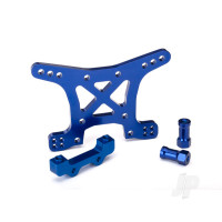 Shock tower, front, 7075-T6 aluminium (blue-anodized)