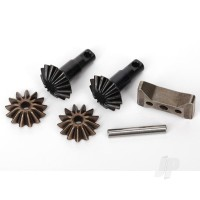 Gear Set, Differential (output gears (2 pcs) / spider gears (2 pcs) / spider gear shaft, carrier support)