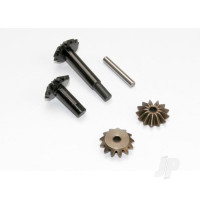 Gear set, center differential (output gears (2pcs) / spider gears (2pcs) / spider gear shaft)
