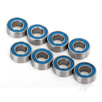 Ball bearings, blue rubber sealed (4x8x3mm) (8pcs)