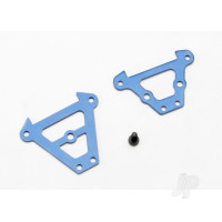 Bulkhead tie bars, Front & Rear (Blue-anodized aluminium) / 2.5x6 CS (1pc)