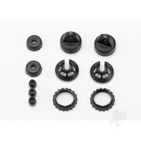 Caps and spring retainers, GTR shock (upper cap (2pcs) / hollow balls (4pcs) / bottom cap (2pcs) / upper retainer (2pcs) / lower retainer (2pcs))