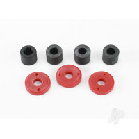 Piston, damper (2x0.5mm hole, Red) (4 pcs) / travel limiters (4 pcs)