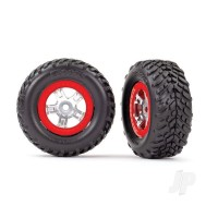 Tyres and Wheels, Assembled Glued SCT Off-Road Racing Tyres (1 Each, Right and Left)