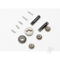 Gear set, Differential (output gears (2pcs) / spider gears (3pcs)) / Differential output shafts (2pcs) / 1.5x6mm pin (3pcs) / 1.5x8mm pin (2pcs)