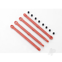 Toe link, front & rear (moulded composite) (red) (4pcs) / hollow balls (8pcs)