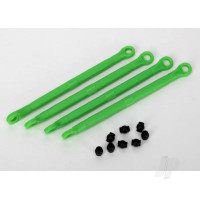 Toe link, front & rear (moulded composite) (green) (4pcs) / hollow balls (8pcs)