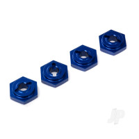 Wheel Hubs, hex, aluminium (Blue-anodized) (4 pcs)