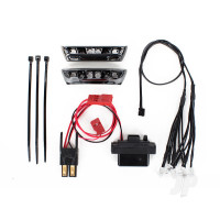 LED light kit, 1:16 E-Revo (includes power supply, Front & Rear bumpers, light harness (4 clear, 4 Red), wire ties)