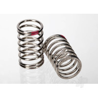 Spring, shock (nickel finish) (GTR) (2.77 rate, pink) (1 pair)
