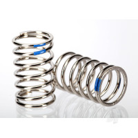 Spring, shock (nickel finish) (GTR) (2.925 rate, blue) (1 pair)