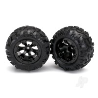Tyres & Wheels, assembled, glued (Geode black, beadlock style wheels, Canyon AT Tyres, foam inserts) (1 left, 1 right)