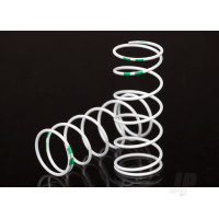 Spring, shock, white (GTR Long) (0.653 rate Green) (1 pair)