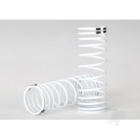Springs, front (white) (progressive rate) (2pcs)