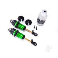 Shocks, GTR Long Green-anodized, PTFE-coated bodies with TiN shafts (fully assembled, with out springs) (2 pcs)