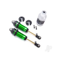 Shocks, GTR XX-Long green-anodized, PTFE-coated bodies with TiN shafts (fully assembled, with out springs) (2pcs)