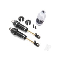 Shocks, GTR XX-Long hard-anodized, PTFE-coated bodies with TiN shafts (assembled) (2pcs) ( with out springs)