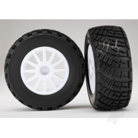 Tyres & Wheels, assembled, glued (White wheels, BFGoodrich Rally, gravel pattern, S1 compound Tyres, foam inserts) (2pcs)