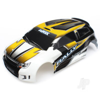 Body, LaTrax 1:18 Rally, yellow (painted) / decals