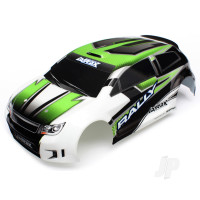 Body, LaTrax 1:18 Rally, green (painted) / decals
