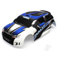 Body, LaTrax 1:18 Rally, blue (painted) / decals