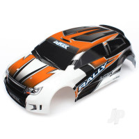 Body, LaTrax 1:18 Rally, orange (painted) / decals
